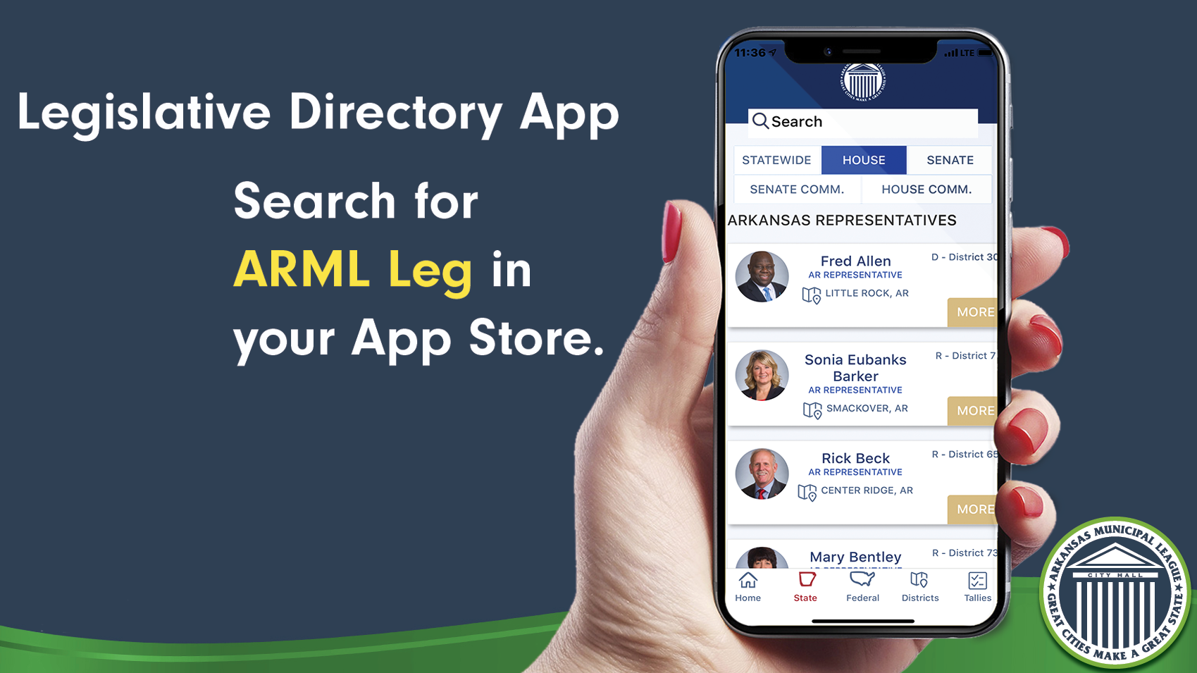 Legislative Directory App - Search for ARML Leg in your App Store
